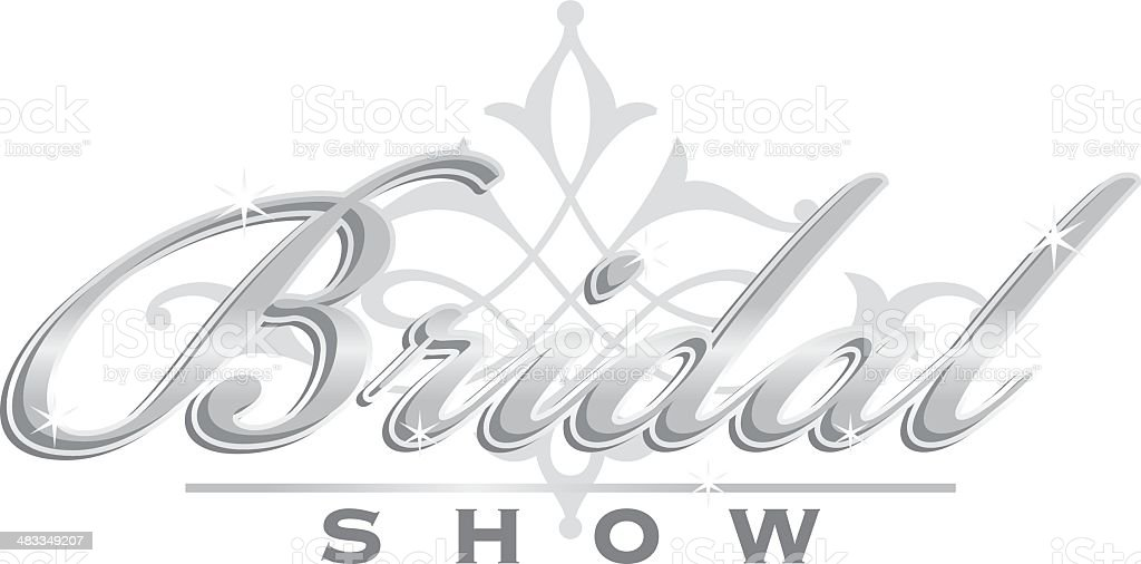Bridal Show Heading vector art illustration