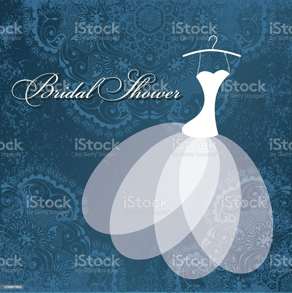 Bridal shower card. vector art illustration