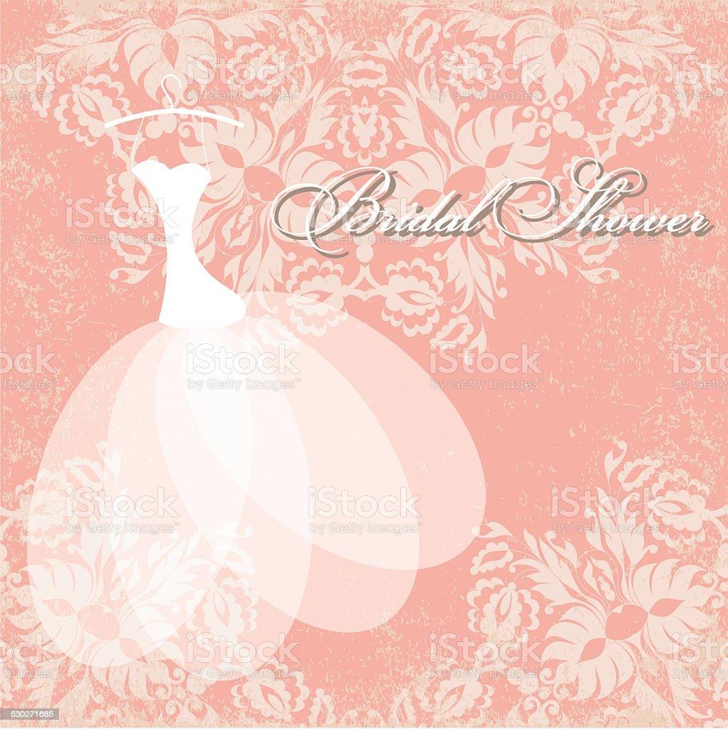 Bridal shower card. vector art illustration