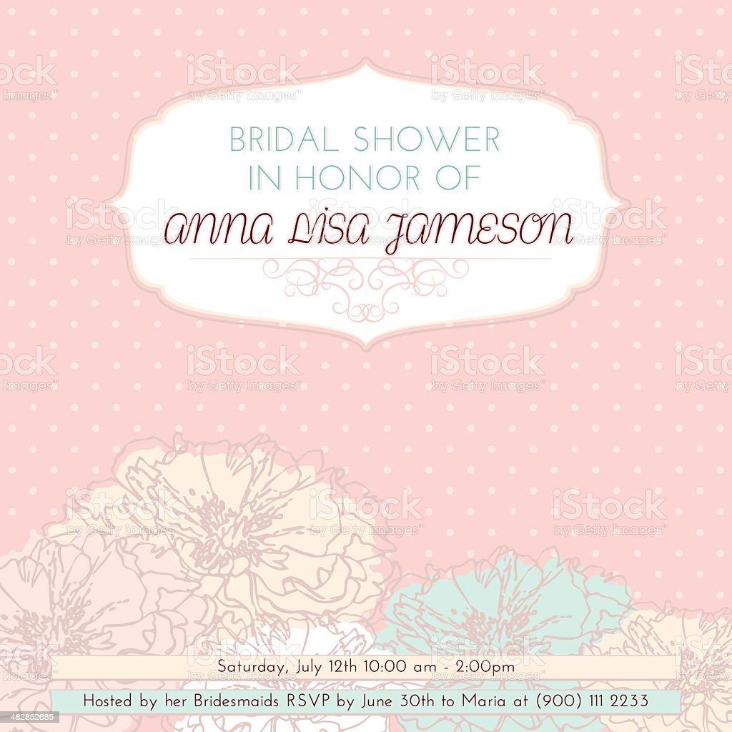 Bridal Shower Invitation royalty-free stock vector art