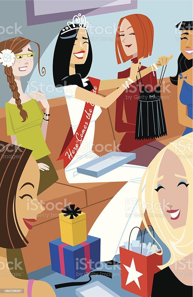 Bridal Shower vector art illustration