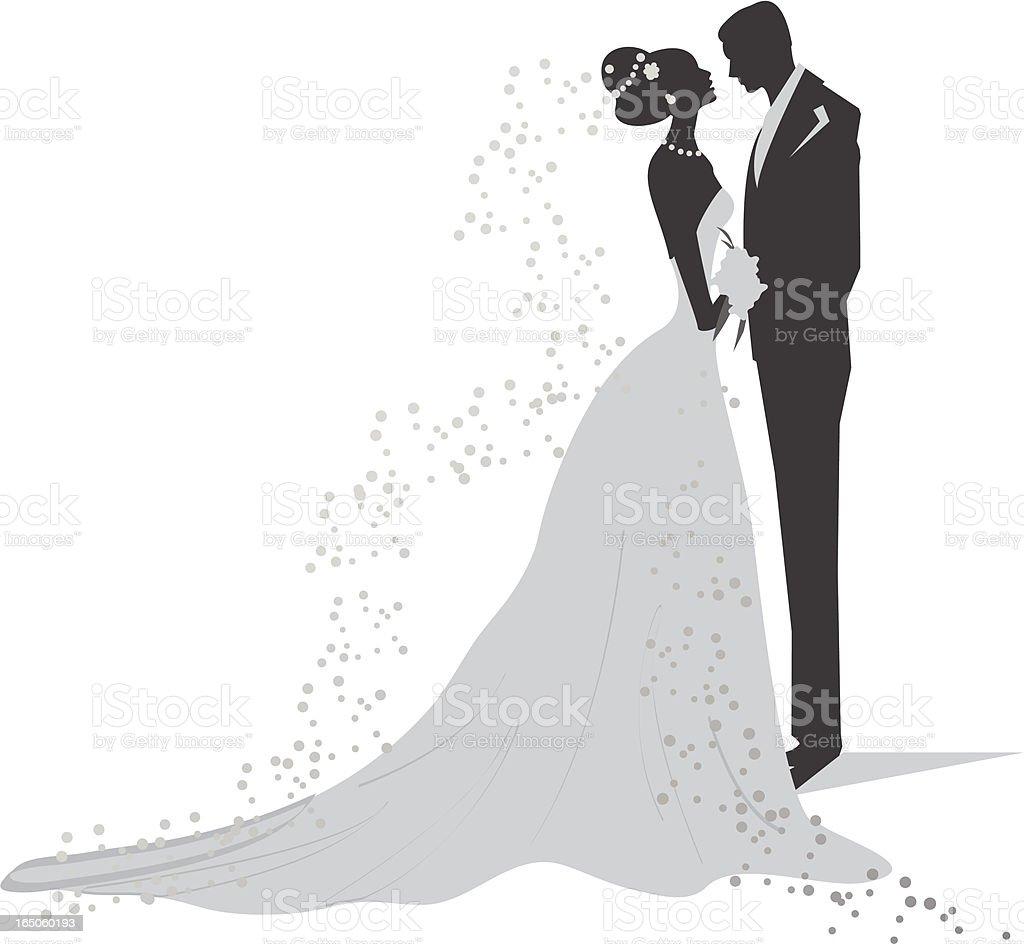 Шаблон жениха и невесты для открытки 130