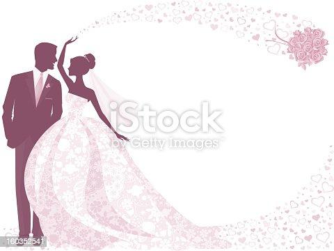 Шаблон жениха и невесты для открытки 74