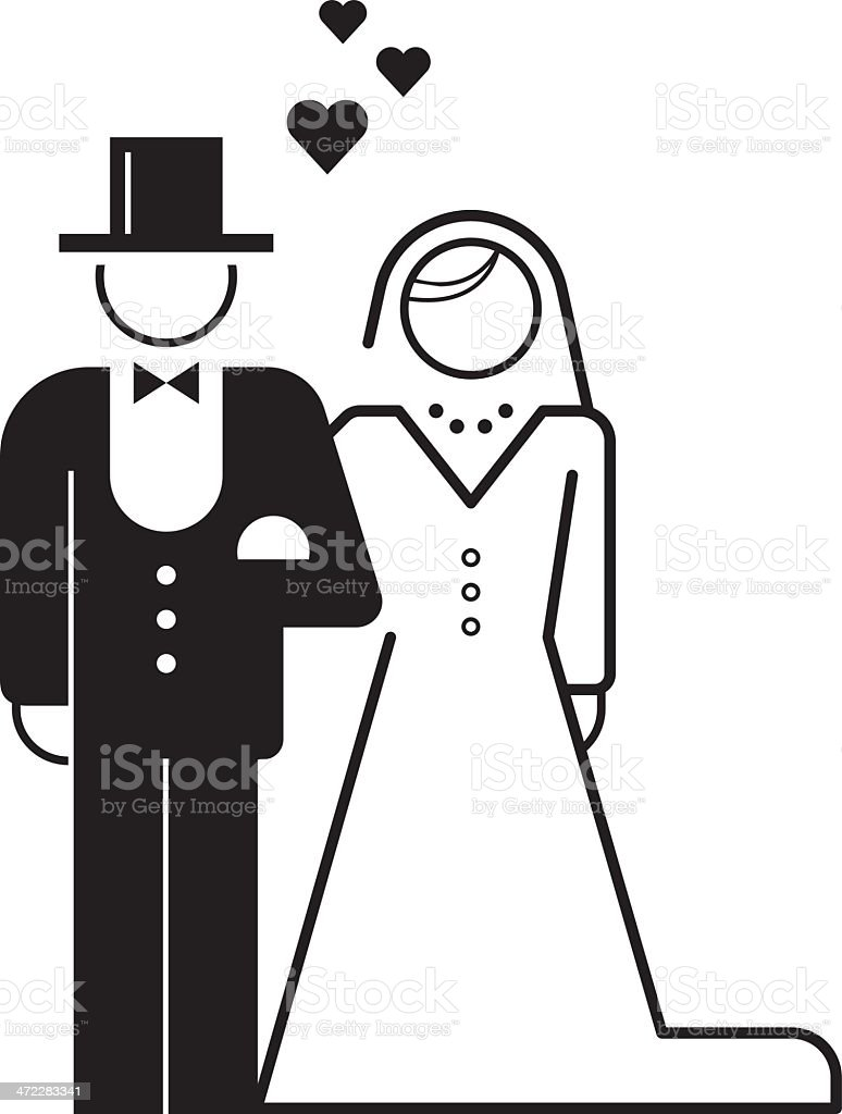 bride and groom – wedding icon royalty-free stock vector art
