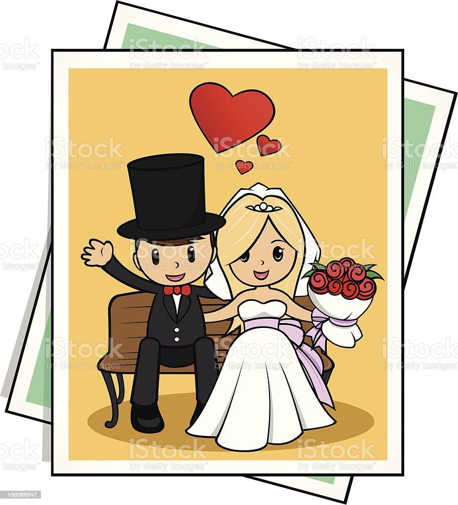 Bride and Groom Wedding royalty-free stock vector art