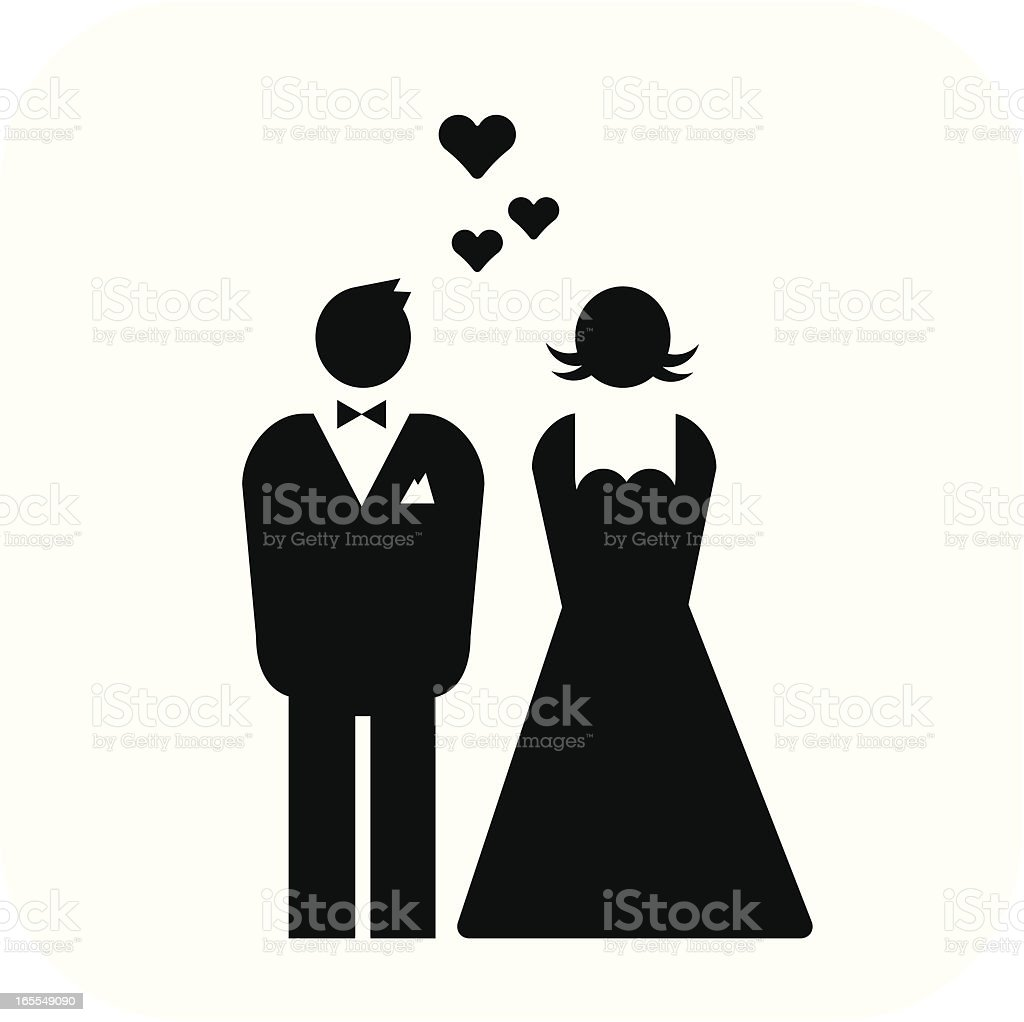 bride and groom – wedding royalty-free stock vector art
