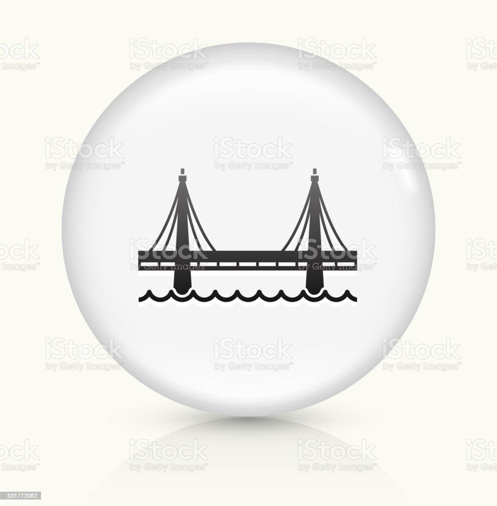 Bridge icon on white round vector button vector art illustration