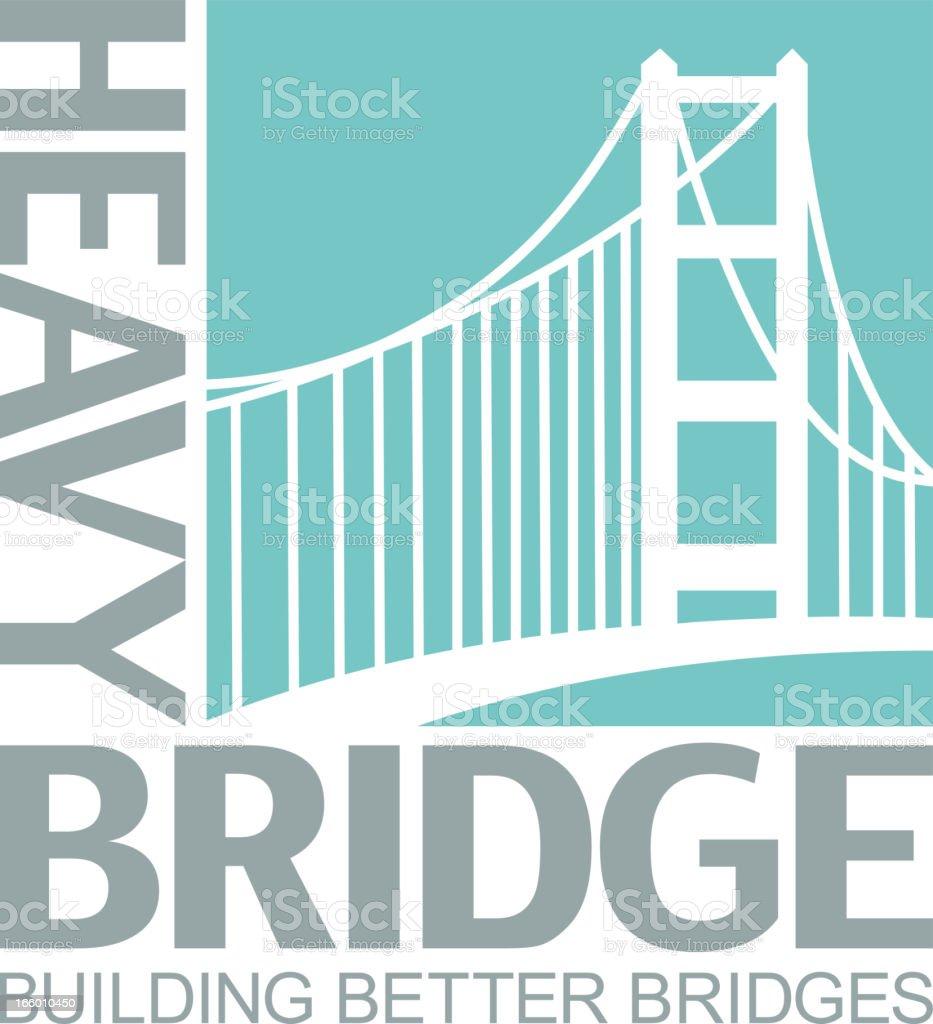 Bridge Icon vector art illustration