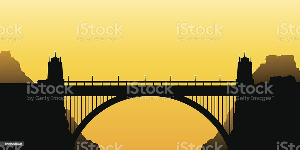 Bridge Silhouette vector art illustration
