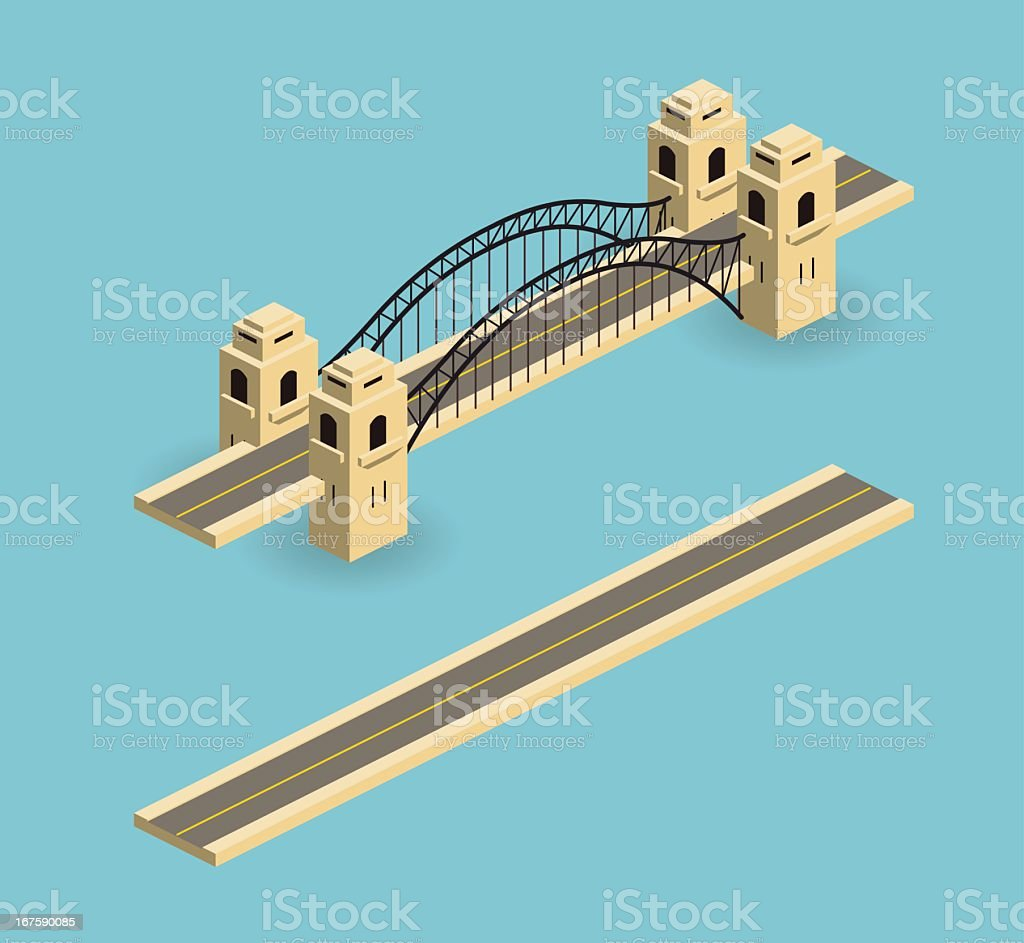 bridge royalty-free stock vector art