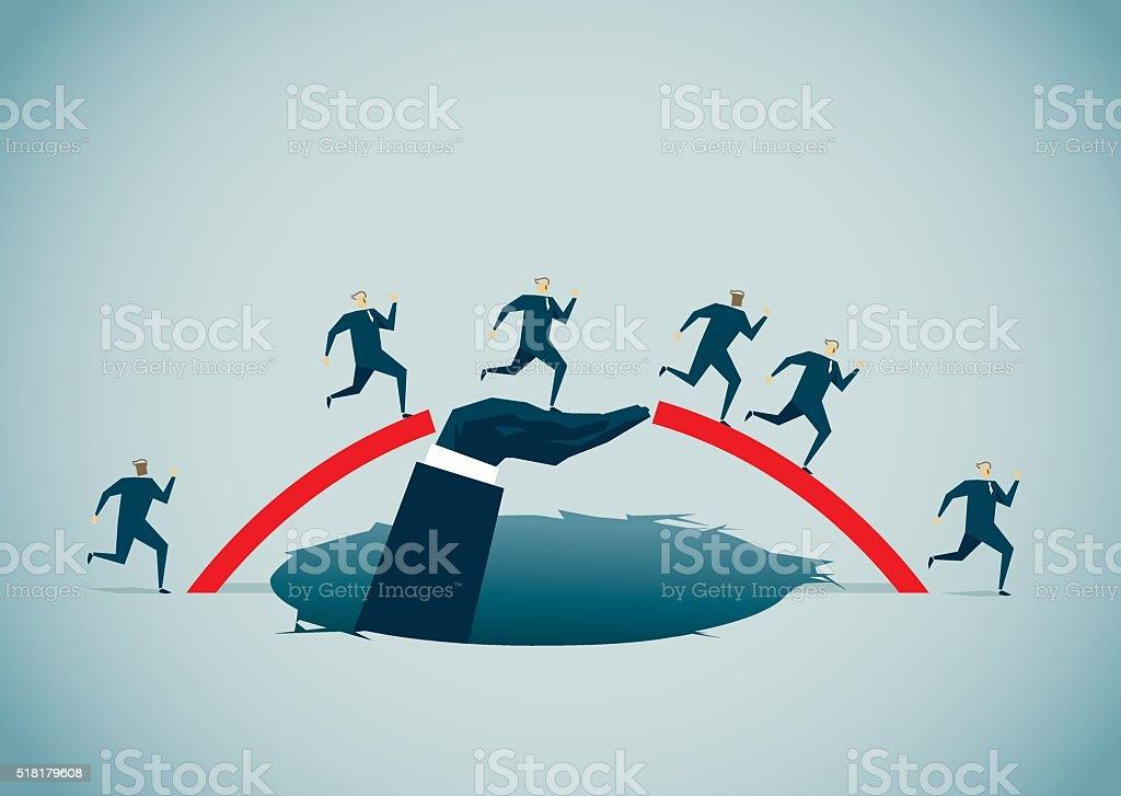 Bridge vector art illustration