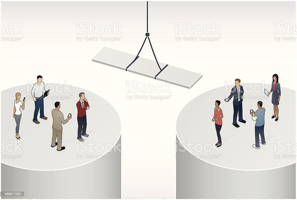 Bridging the Gap Illustration vector art illustration