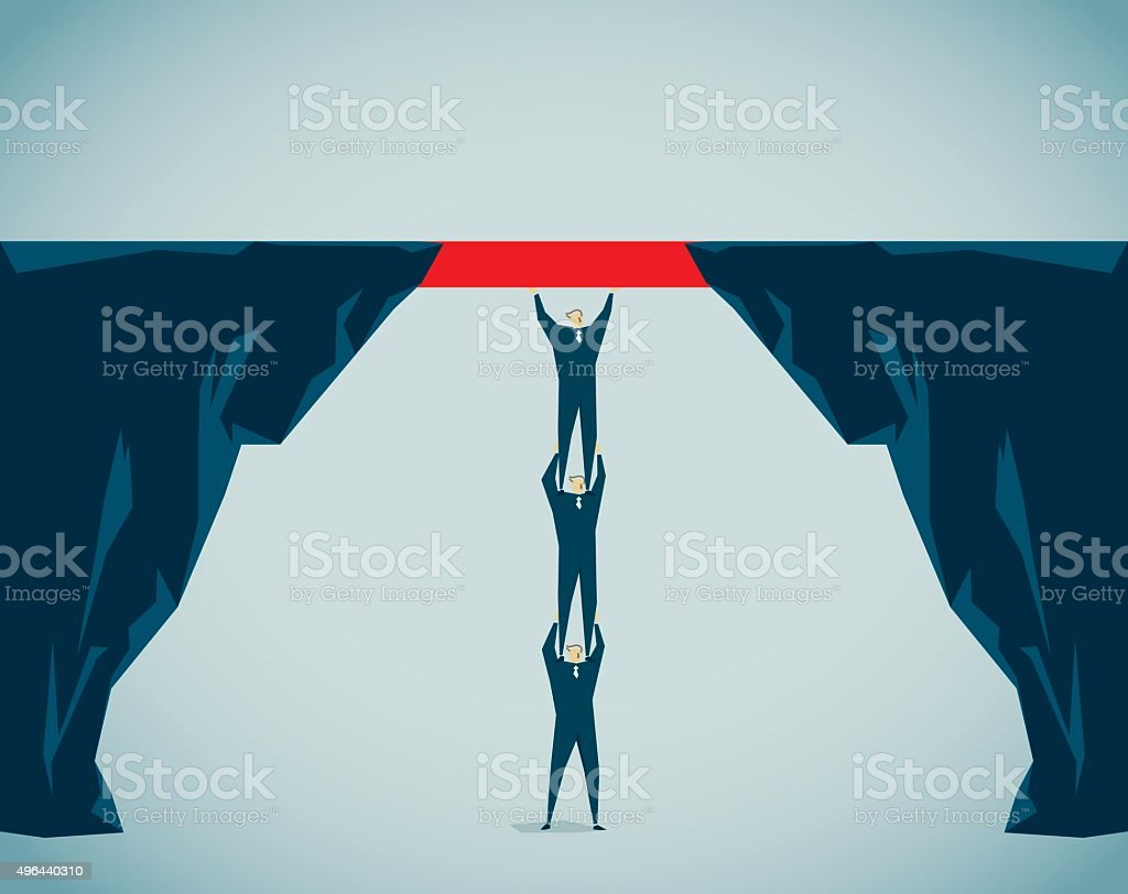 Bridging The Gap vector art illustration