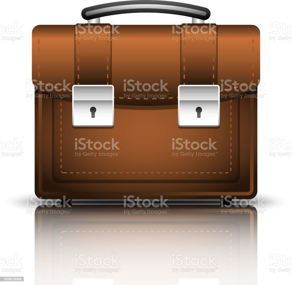 Briefcase Icon vector art illustration