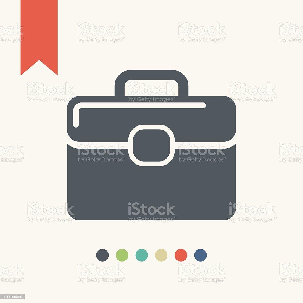 briefcase icon vector art illustration