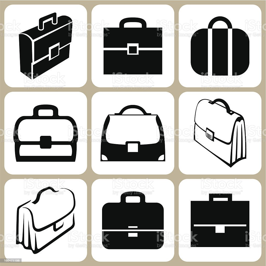 briefcase icons set royalty-free stock vector art