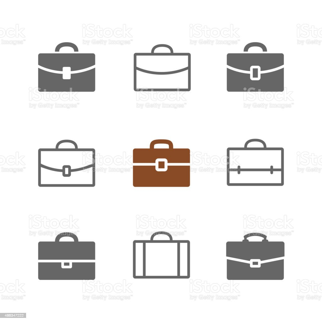 Briefcase vector art illustration