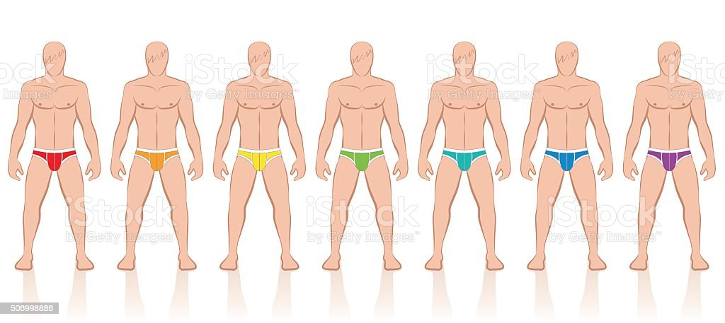 Briefs Colors Collection vector art illustration