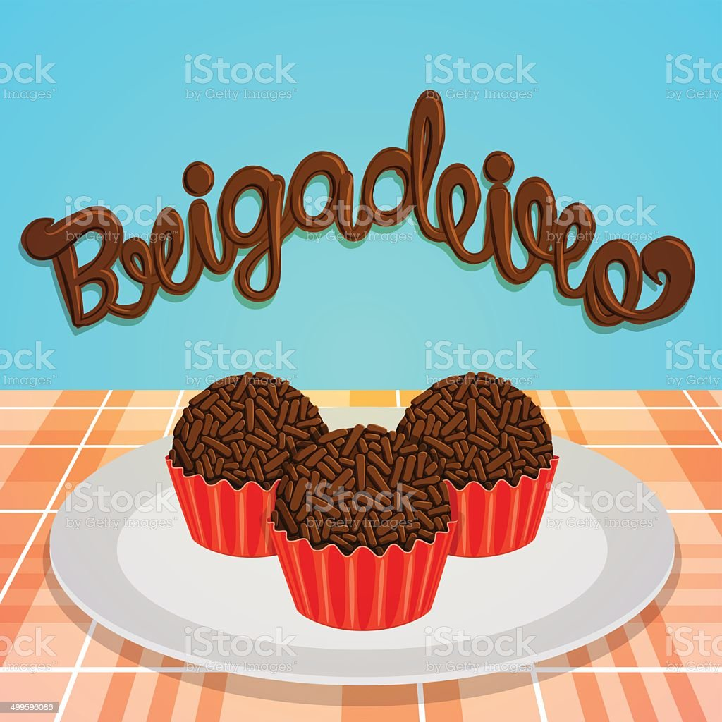 Brigadeiro - Brazilian Candy vector art illustration