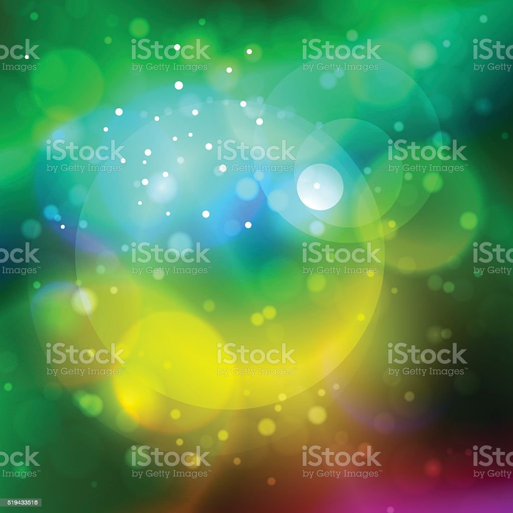Bright Abstract Bokeh Background vector art illustration