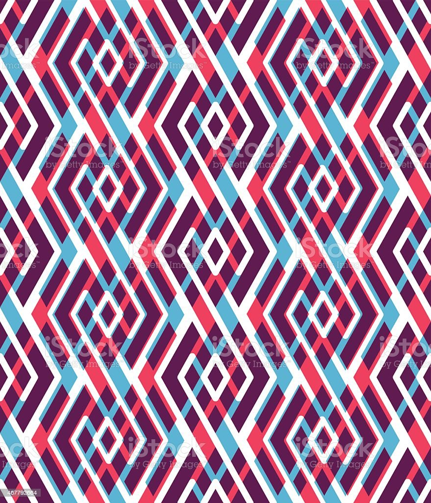 Bright abstract seamless pattern with interweave lines. Vector vector art illustration