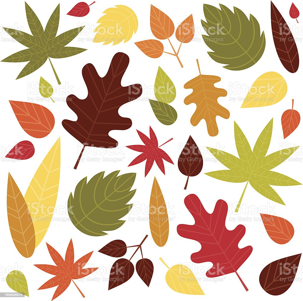 Bright Autumn Leaves royalty-free stock vector art