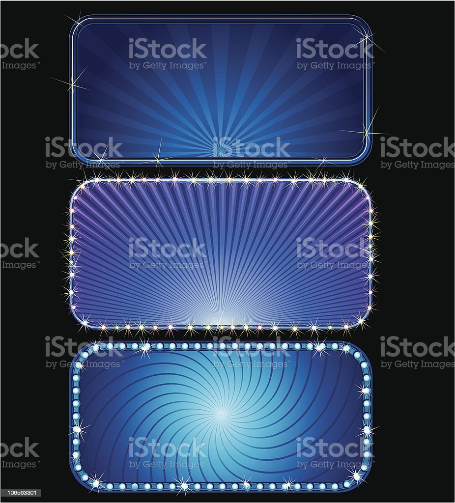 Bright Blue sign royalty-free stock vector art