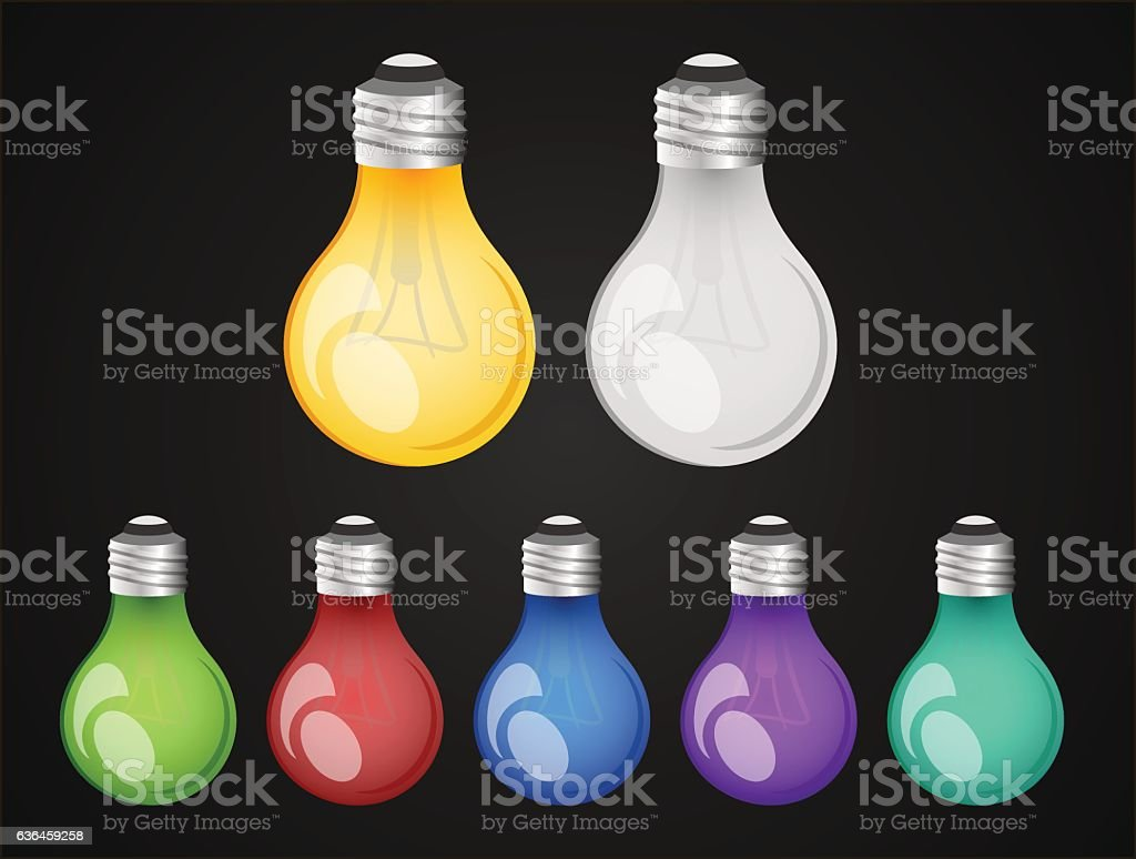 bright bulbs vector art illustration