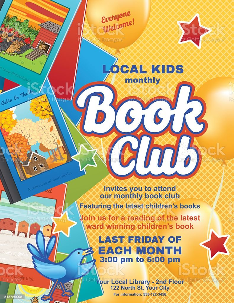Book Club Poster Template Woodsikecol