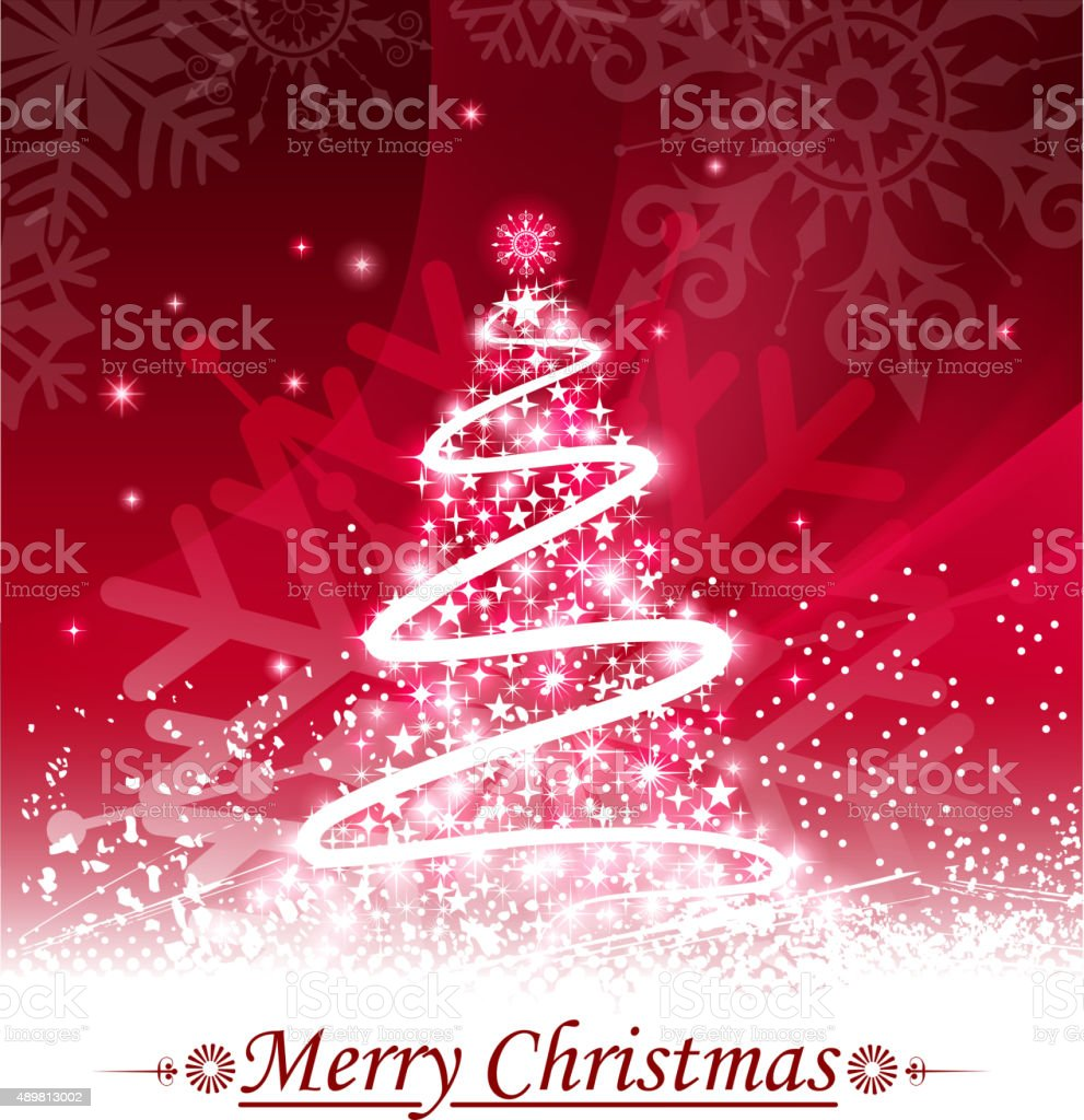 bright christmas tree vector art illustration