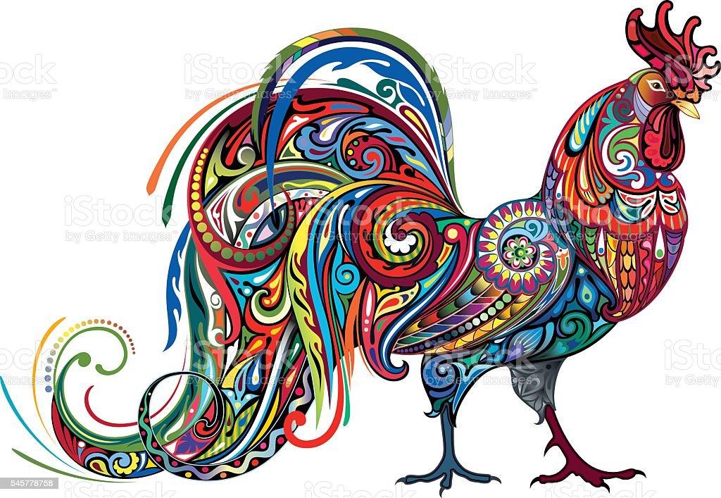 Bright Cockerel vector art illustration