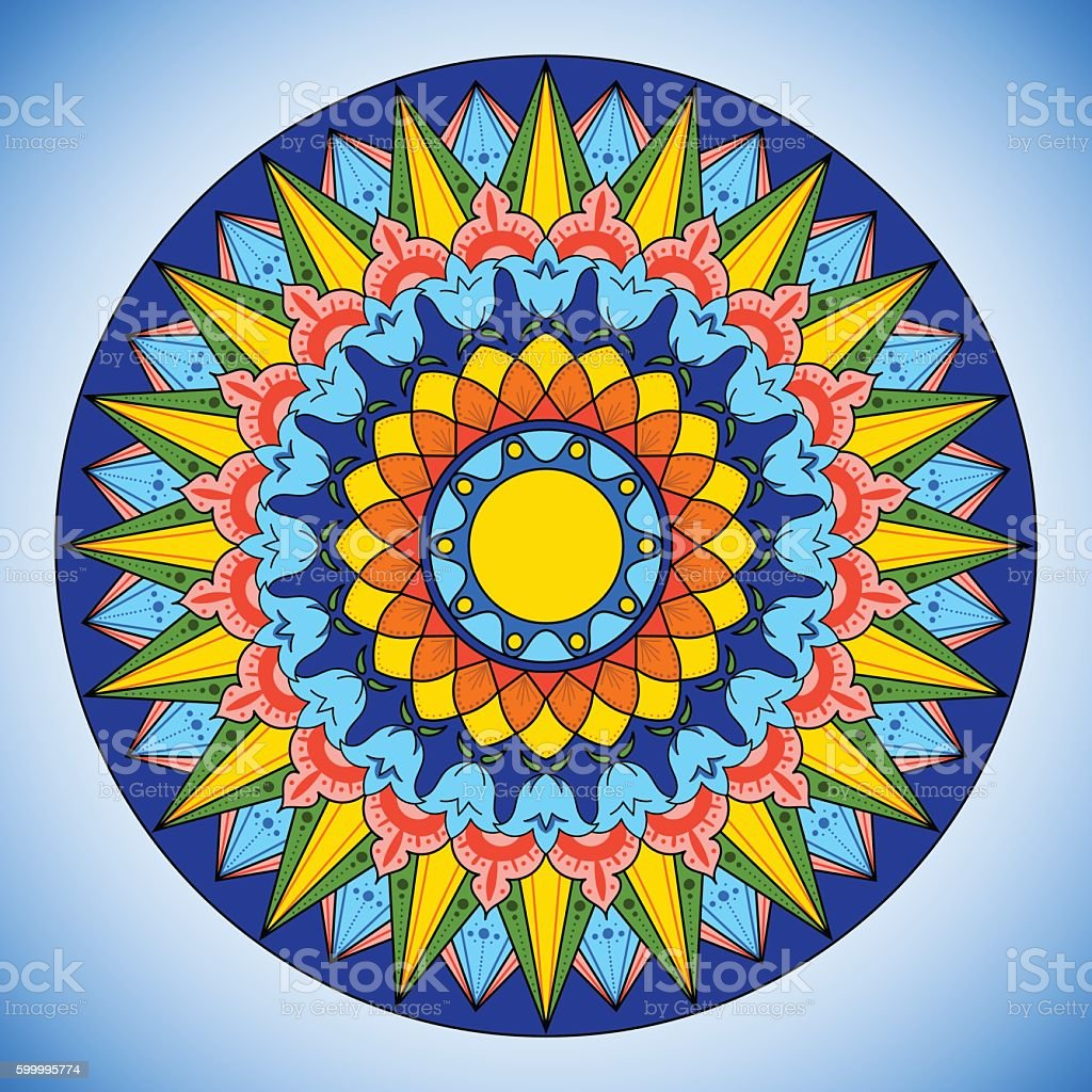 Bright color wheel pattern vector. vector art illustration