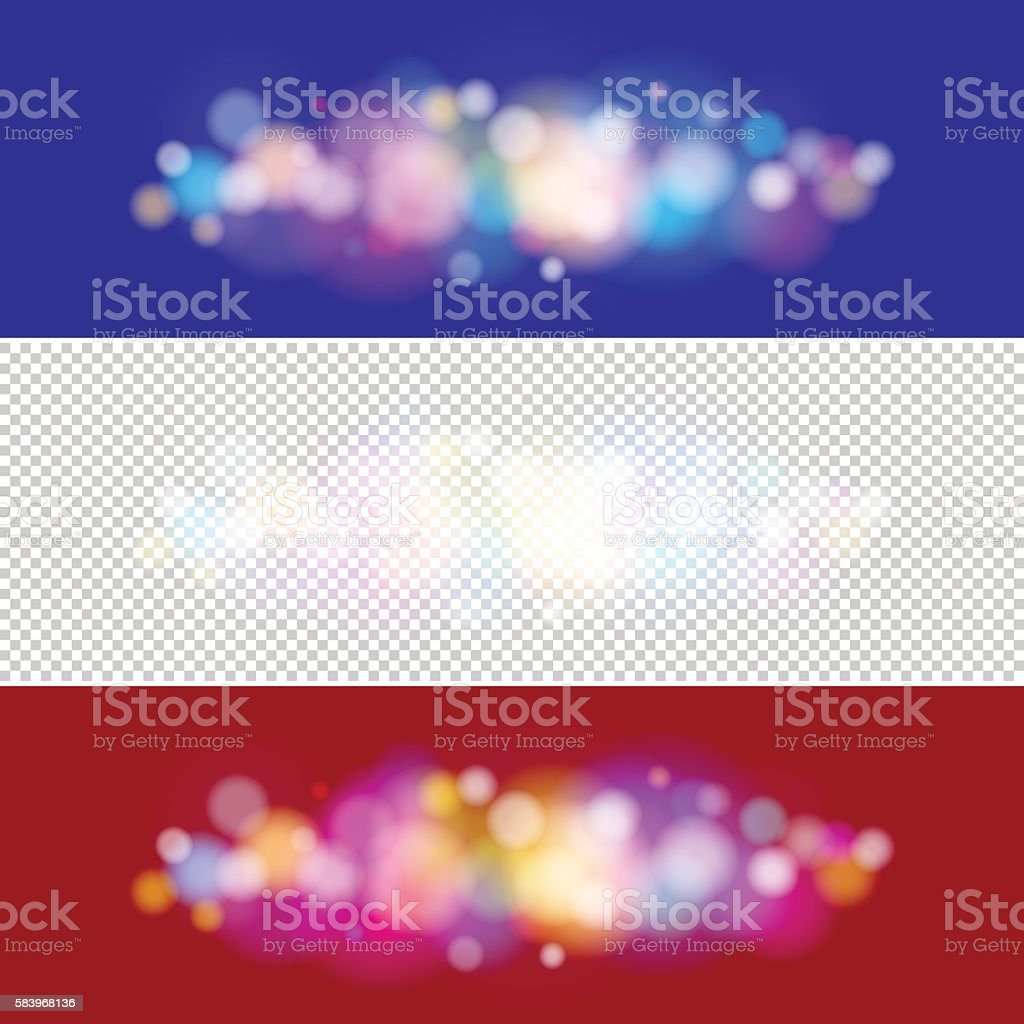 Bright Colored Lights on Purple and Red Background vector art illustration