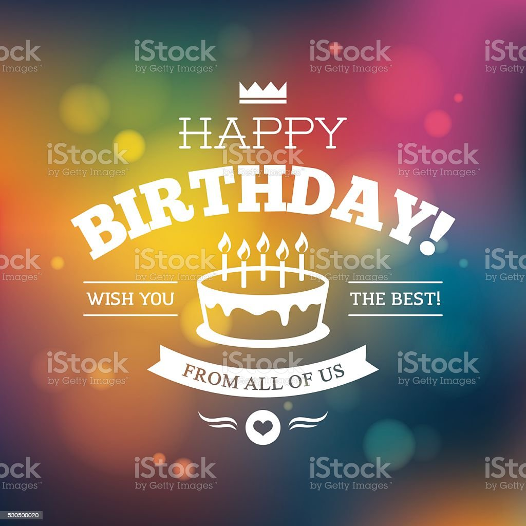 Bright colorful Birthday card design vector art illustration