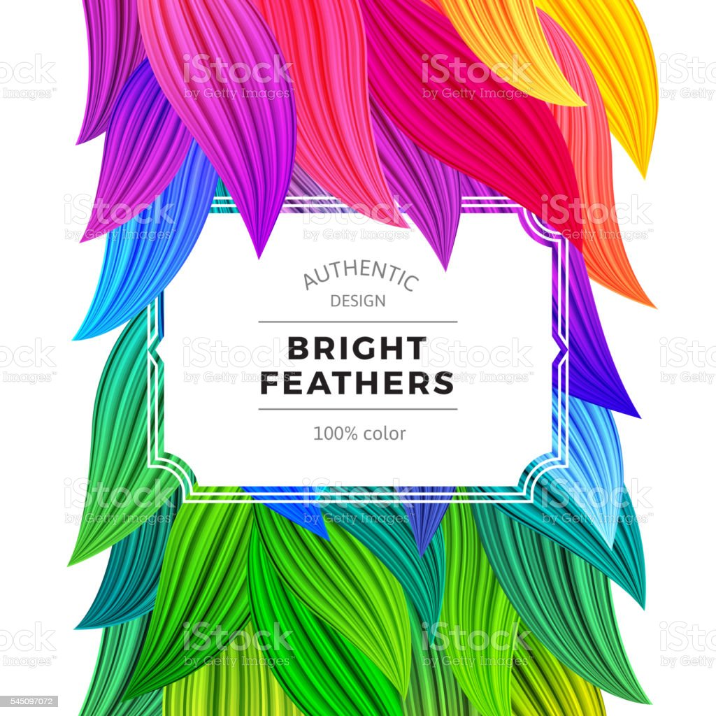 Bright Colorful Carnival Background. Exotic Summer Frame. vector art illustration