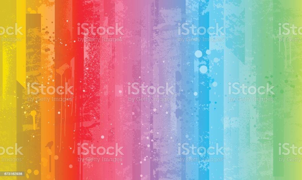 Bright colorful rainbow background vector art illustration