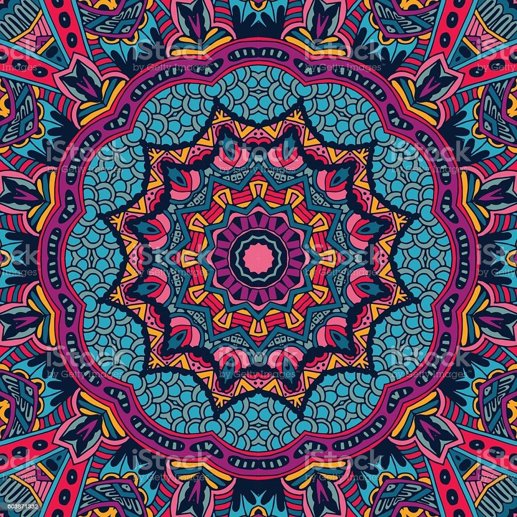 bright festive abstract vector seamless pattern vector art illustration