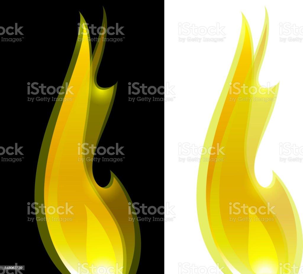 bright fire vector art illustration