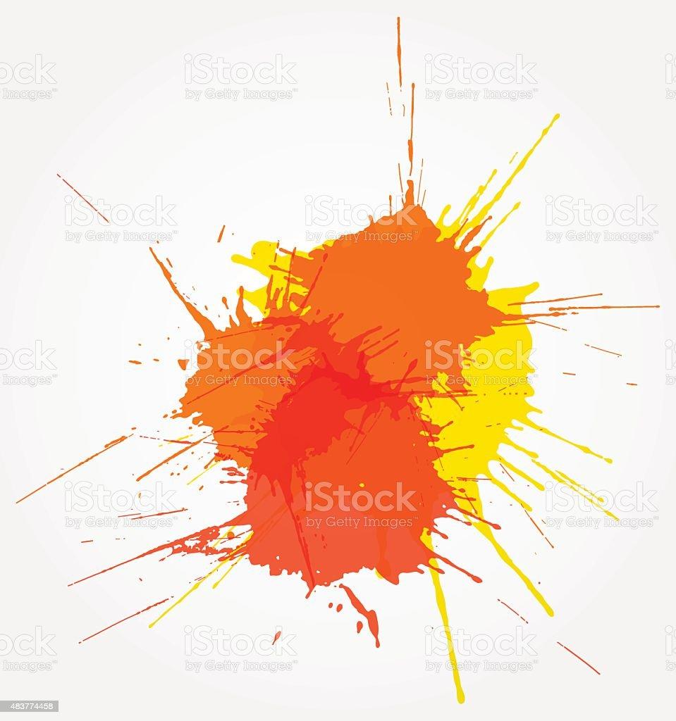 Bright grunge splash. Vector illustration vector art illustration