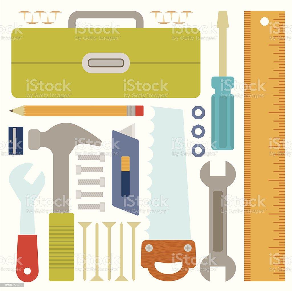 Bright Hardware Tools royalty-free stock vector art