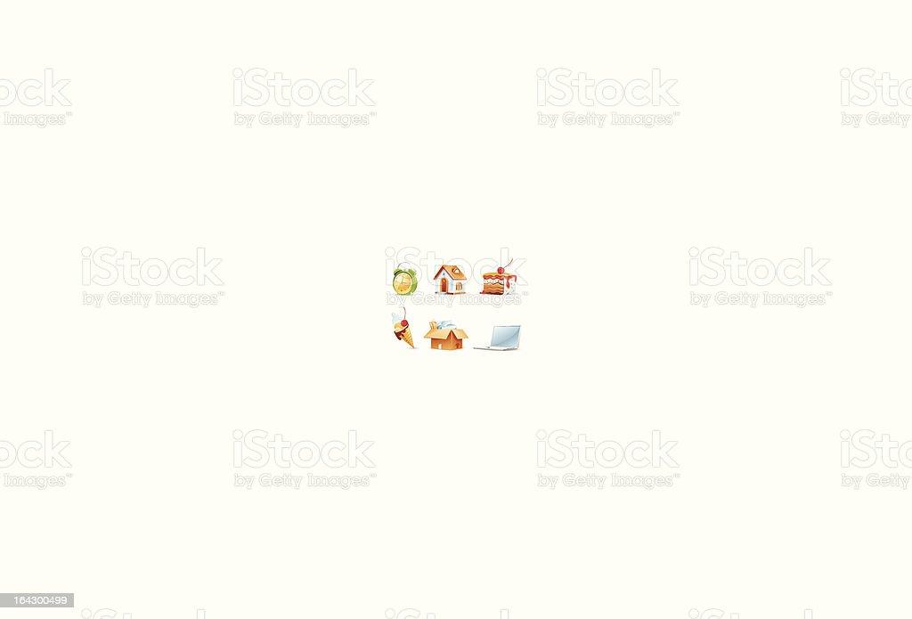 Bright icon set royalty-free stock vector art