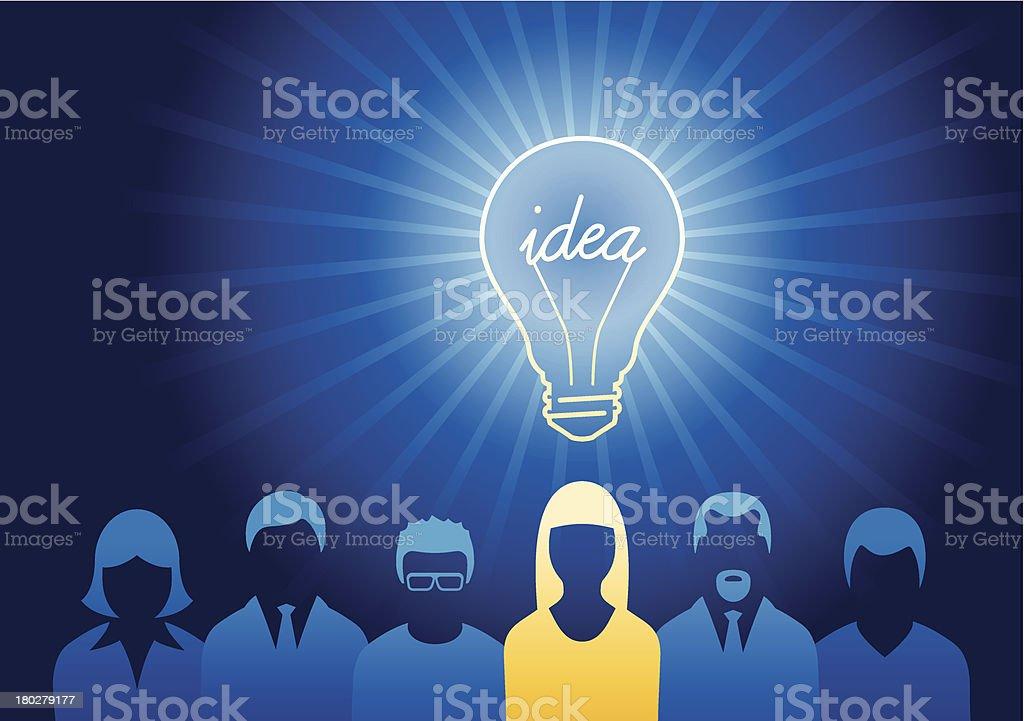 Bright Idea Concept royalty-free stock vector art