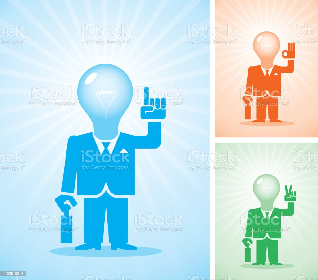 Bright idea royalty-free stock vector art