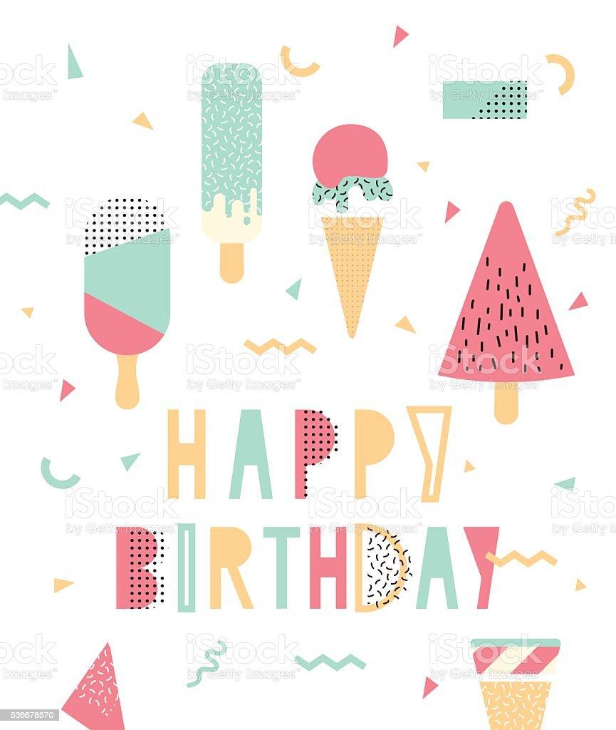 Bright illustration for birthday vector art illustration