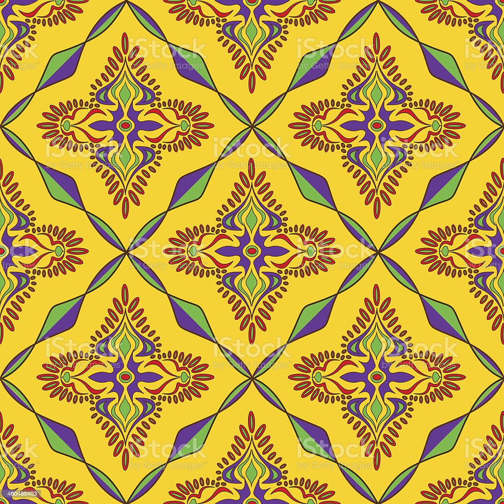 Bright Indian seamless pattern royalty-free stock vector art