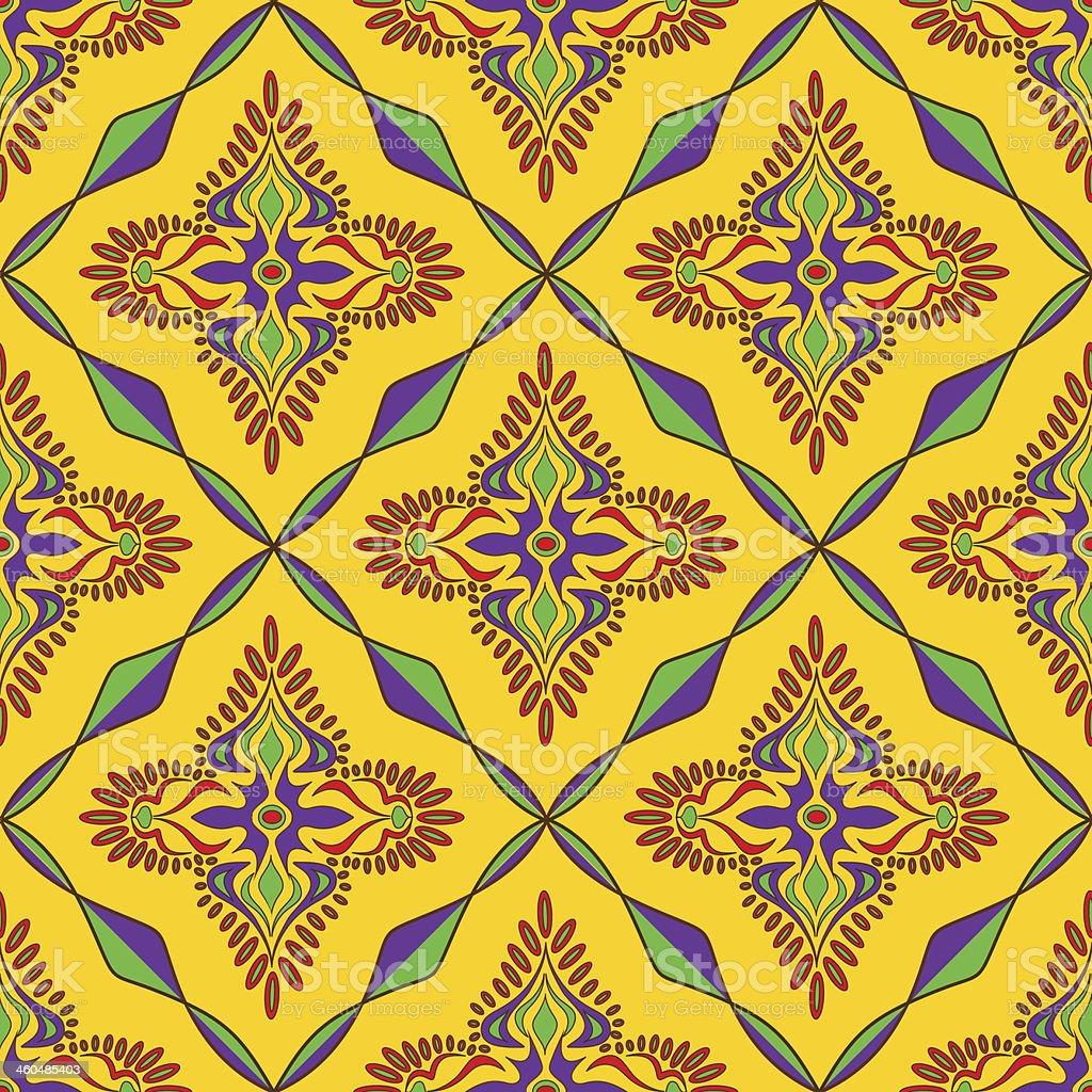 Bright Indian seamless pattern vector art illustration