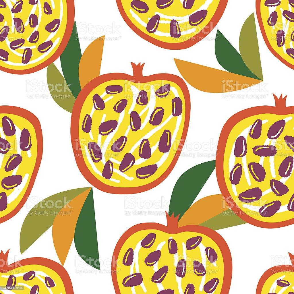 Bright juicy pomegranates royalty-free stock vector art