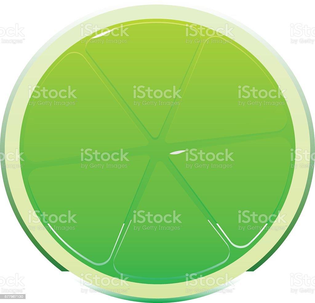 Bright Juicy Tasty Green Lime Cartoon Inside Vektor Illustration ...