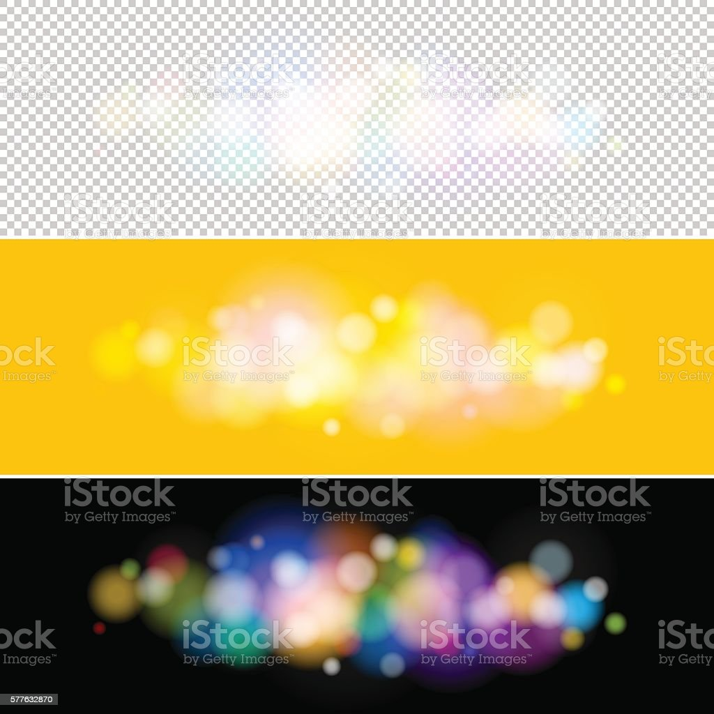 Bright Lights on Yellow and Black Background vector art illustration