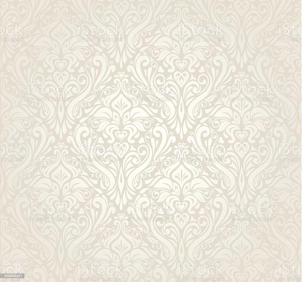Bright luxury vintage wallpaper design vector art illustration